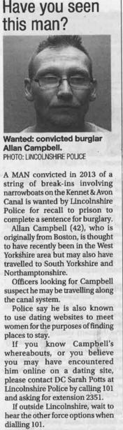 Allan Campbell Boat Burgler