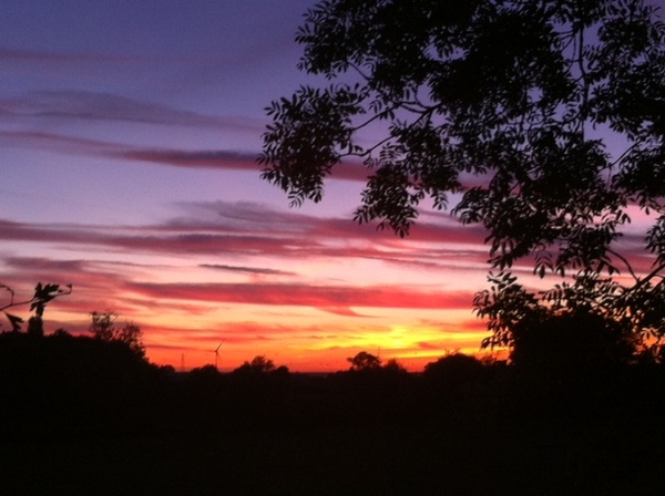 Sunset over Crick