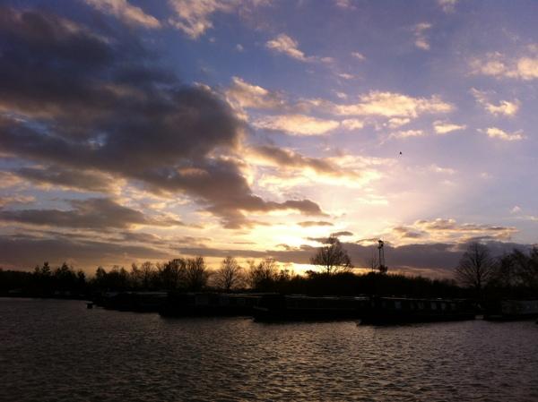 Sunset over Locks marina
