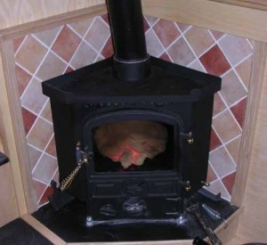 corner bubble stove