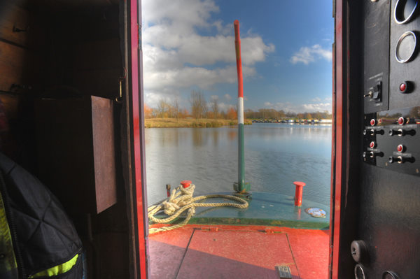 a view from narrowboat James' engine room