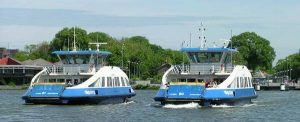 Two Amsterdam ferries