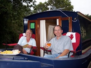 Sue And Barry Horne Relaxing On Their Front Deck