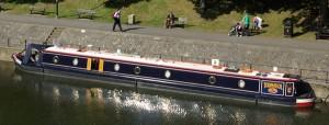Narrowboat Tournesal moored at Bath Weir