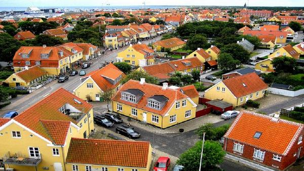 The yellow houses of Skagen